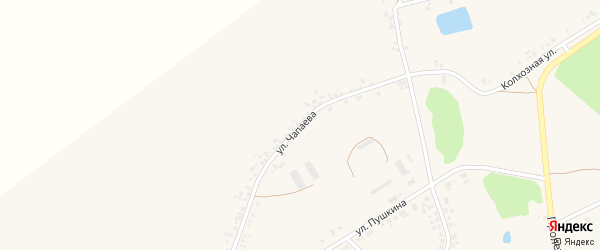 Улица Чапаева на карте села Головчино с номерами домов