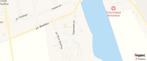 Парковая улица на карте села Головчино с номерами домов