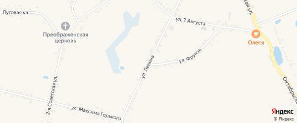 Улица Ленина на карте села Головчино с номерами домов