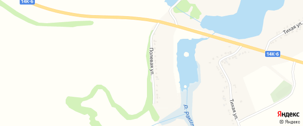 Полевая улица на карте поселка Ракитного с номерами домов