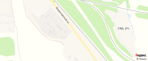Борисовское шоссе на карте Пролетарского поселка с номерами домов