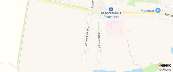Солнечная улица на карте поселка Ракитного с номерами домов
