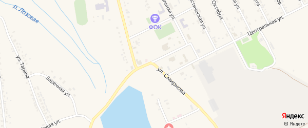 Улица Смирнова на карте села Головчино с номерами домов