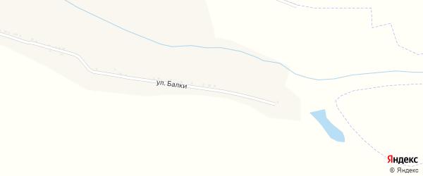 Улица Балки на карте Солдатского села с номерами домов