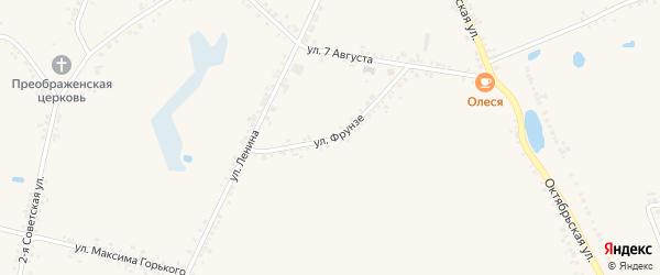 Улица Фрунзе на карте села Головчино с номерами домов