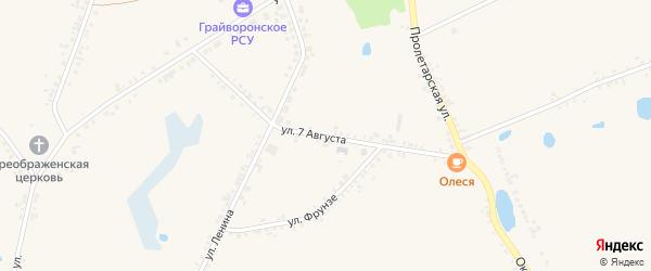 Улица 7 Августа на карте села Головчино с номерами домов