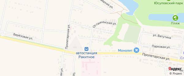 Раздольная улица на карте поселка Ракитного с номерами домов