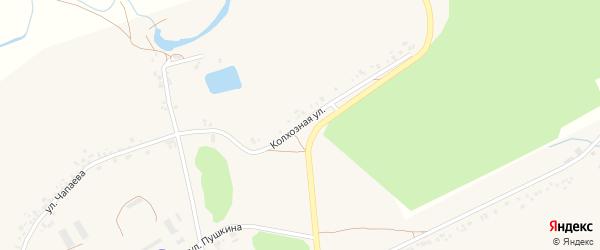 Колхозная улица на карте села Головчино с номерами домов