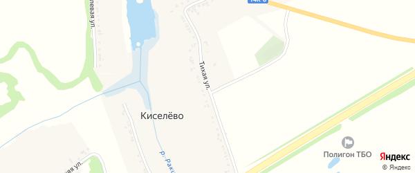 Тихая улица на карте села Киселево с номерами домов