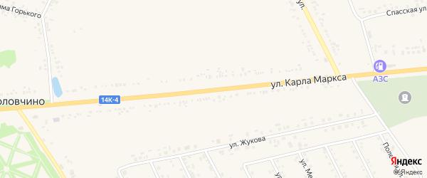 Улица Карла Маркса на карте села Головчино с номерами домов