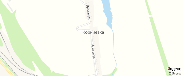 Яровая улица на карте хутора Корниевки с номерами домов