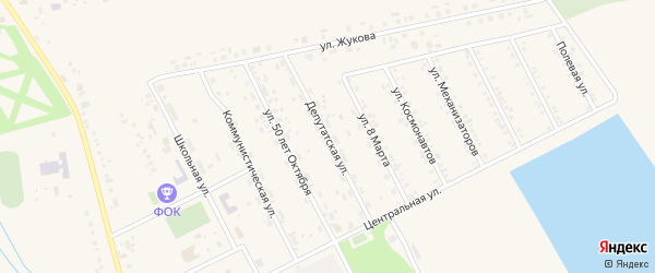 Депутатская улица на карте села Головчино с номерами домов