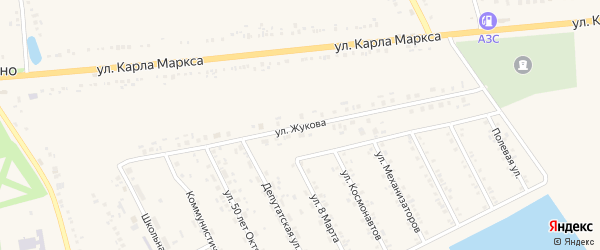 Улица Жукова на карте села Головчино с номерами домов