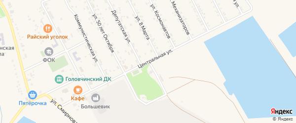 Центральная улица на карте села Головчино с номерами домов