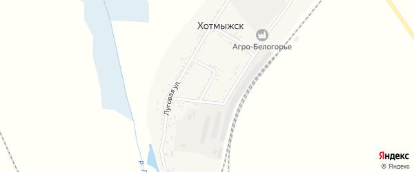 Народная улица на карте поселка Хотмыжска с номерами домов