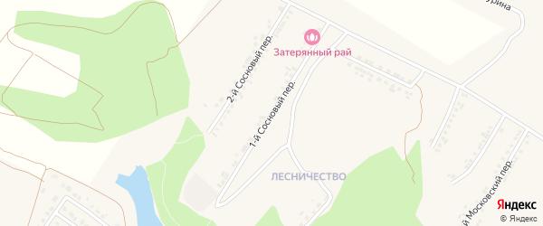 1-й Сосновый переулок на карте поселка Ракитного с номерами домов