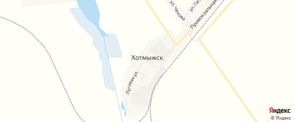 Карта поселка Хотмыжска в Белгородской области с улицами и номерами домов