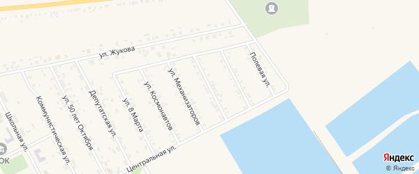 Красноармейская 1-я улица на карте села Головчино с номерами домов