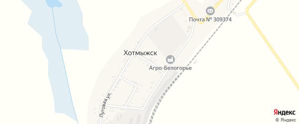 Улица Мира на карте поселка Хотмыжска с номерами домов