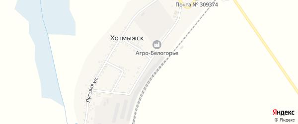 Урожайная улица на карте поселка Хотмыжска с номерами домов