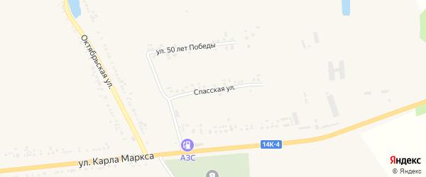 Спасская улица на карте села Головчино с номерами домов