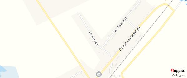 Улица Чехова на карте поселка Хотмыжска с номерами домов