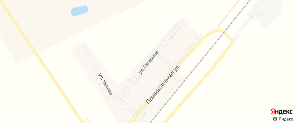 Улица Гагарина на карте поселка Хотмыжска с номерами домов