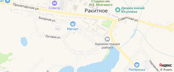 Советский переулок на карте поселка Ракитного с номерами домов