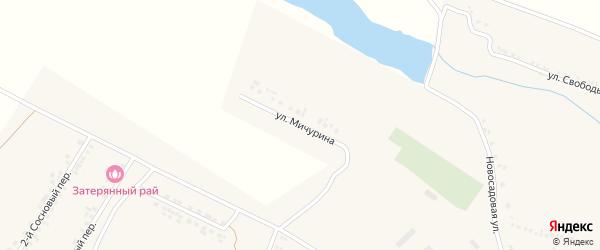Улица Мичурина на карте поселка Ракитного с номерами домов