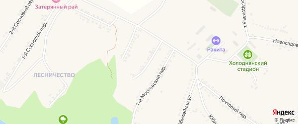 2-й Московский переулок на карте поселка Ракитного с номерами домов