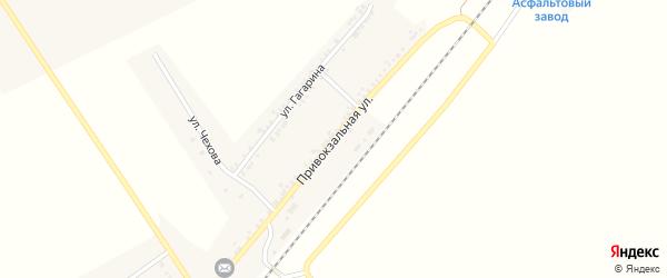 Привокзальная улица на карте поселка Хотмыжска с номерами домов