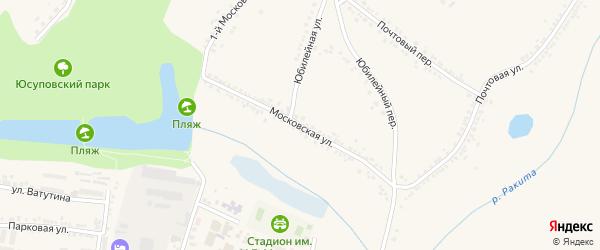 Московская улица на карте поселка Ракитного с номерами домов