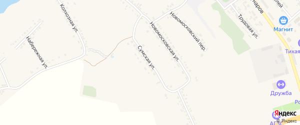 Сумская улица на карте поселка Ракитного с номерами домов