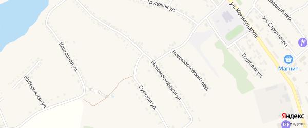 Новомосковская улица на карте поселка Ракитного с номерами домов