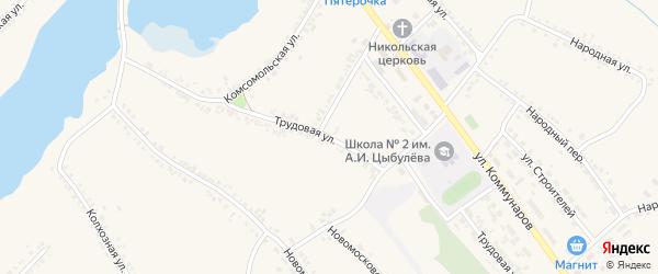 Трудовая улица на карте поселка Ракитного с номерами домов