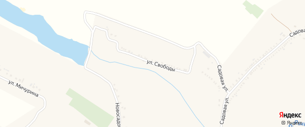 Улица Свободы на карте поселка Ракитного с номерами домов