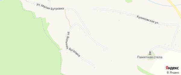 Улица Большая Бугровка на карте села Акулиновки с номерами домов