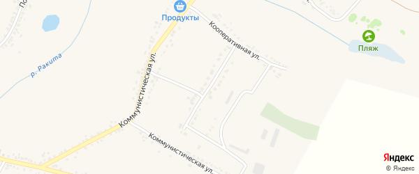 Кооперативный переулок на карте поселка Ракитного с номерами домов