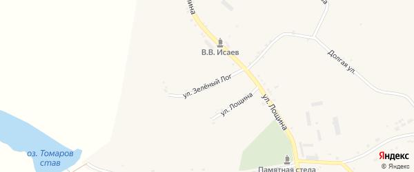 Улица Зеленый Лог на карте села Хотмыжска с номерами домов