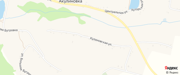 Кулиновская улица на карте села Акулиновки с номерами домов