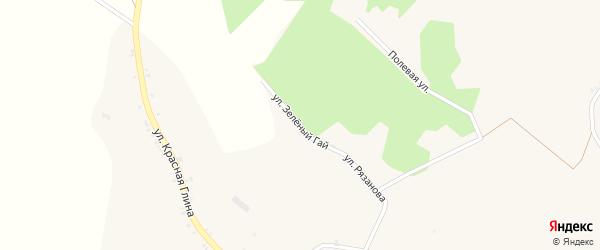 Улица Зеленый Гай на карте села Хотмыжска с номерами домов