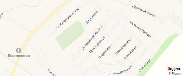 Улица Жукова на карте Пролетарского поселка с номерами домов