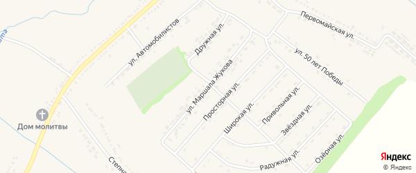 Улица Маршала Жукова на карте поселка Ракитного с номерами домов