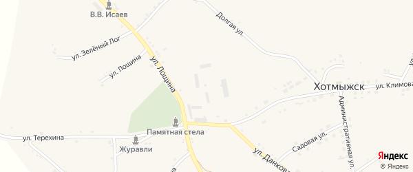Улица Томарово на карте села Хотмыжска с номерами домов