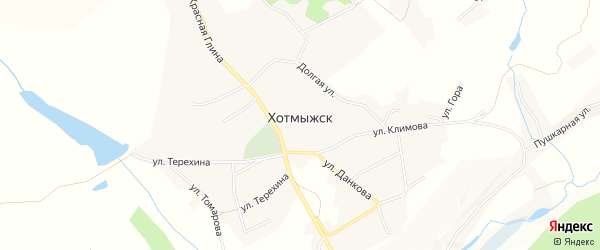Карта села Хотмыжска в Белгородской области с улицами и номерами домов