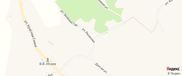 Улица Рязанова на карте села Хотмыжска с номерами домов