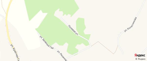 Полевая улица на карте села Хотмыжска с номерами домов