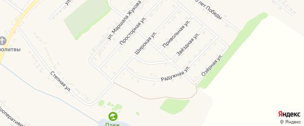 Ключевая улица на карте поселка Ракитного с номерами домов