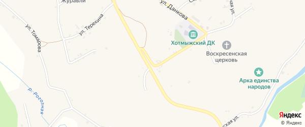Кооперативная улица на карте села Хотмыжска с номерами домов