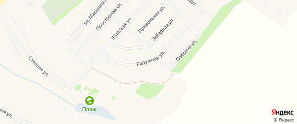 Радужная улица на карте поселка Ракитного с номерами домов